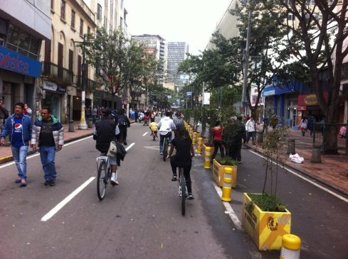 They started making parts of the Ciclovia routes permanent.